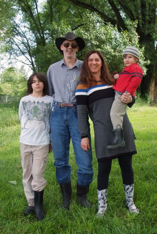 Sasha Goluboff and her family.