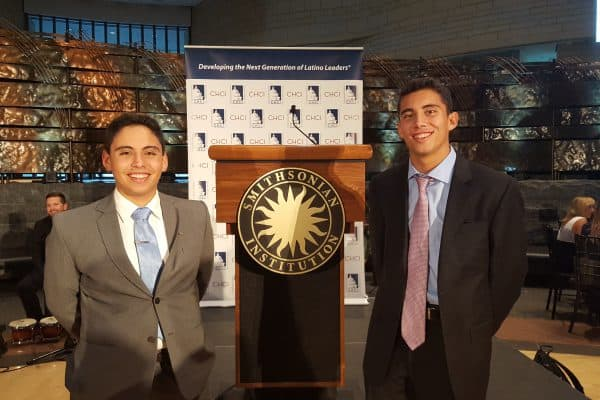 Pepe Estrada (left) and Jason Renner attended the Congressional Hispanic Caucus Institute's Public Policy Conference in Washington, D.C.
