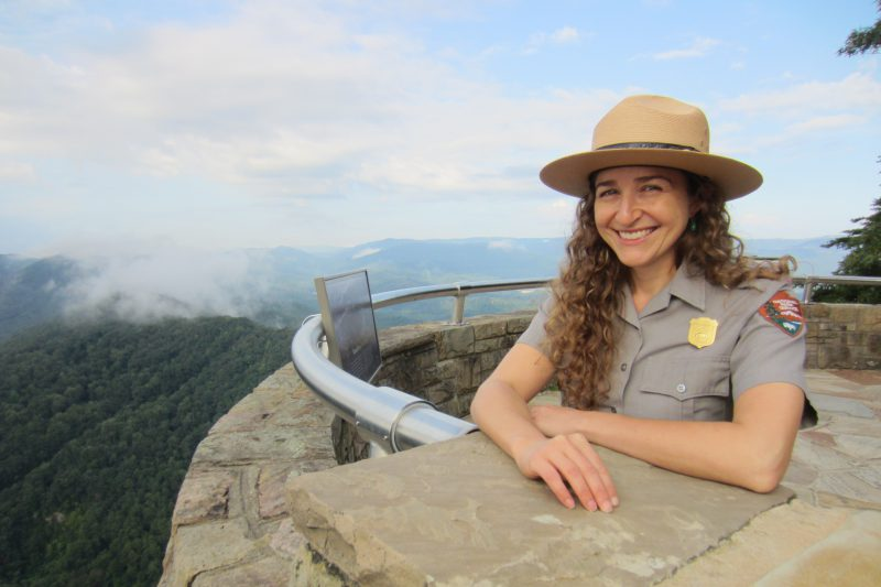 Sula Jacobs poses at Cumberland Gap National Historical Park.
