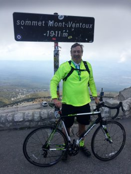 At the summit of Mont Ventoux, France.