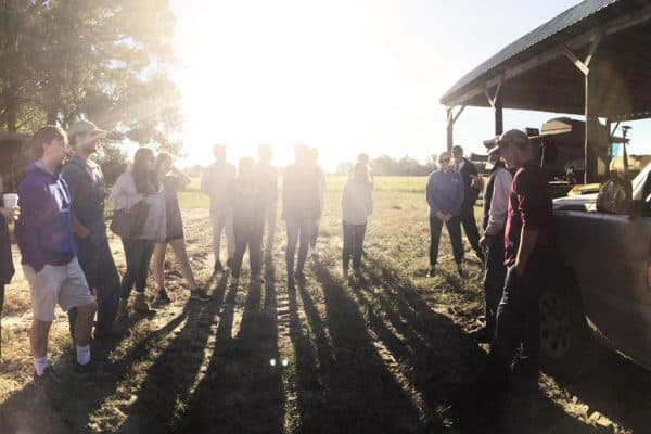 #wluCareerTrips enjoying an early morning on the farm learning about STEM jobs in agriculture, ecology and enviro.