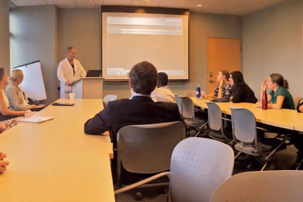 wluCareerTrips-is-in-Richmond-with-Gary-Bokinsky-M.D.-'67-learning-about-urology-medical-practice-pursing-a-career-in-medical-research-600x400 Careers in Motion: Tara Loughery '18