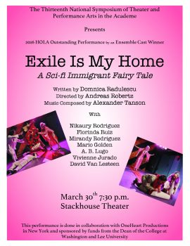 Exile-poster-270x350 W&L Hosts 13th National Symposium of Theater and Performance Arts in Academe