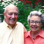 Robert Swinarton '50 and his late wife, Roddy.