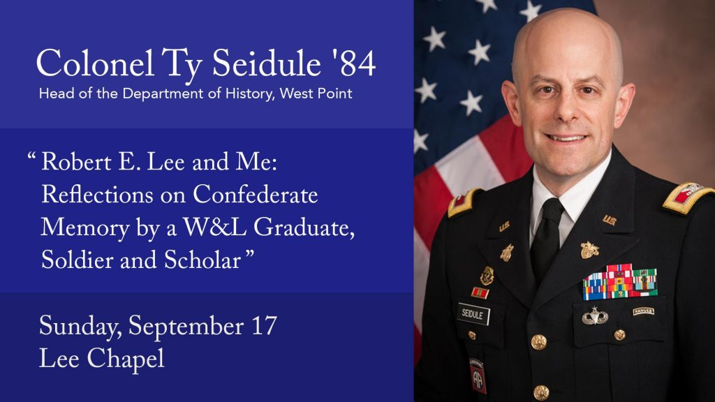 ty-seidule-1-1024x576 Livestream: Constitution Day Speaker, Colonel Ty Seidule '84
