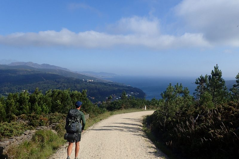 Luke-Farley-on-the-Camino-descending-into-Cabo-Finisterre-800x533 'Grateful Every Step of the Way'