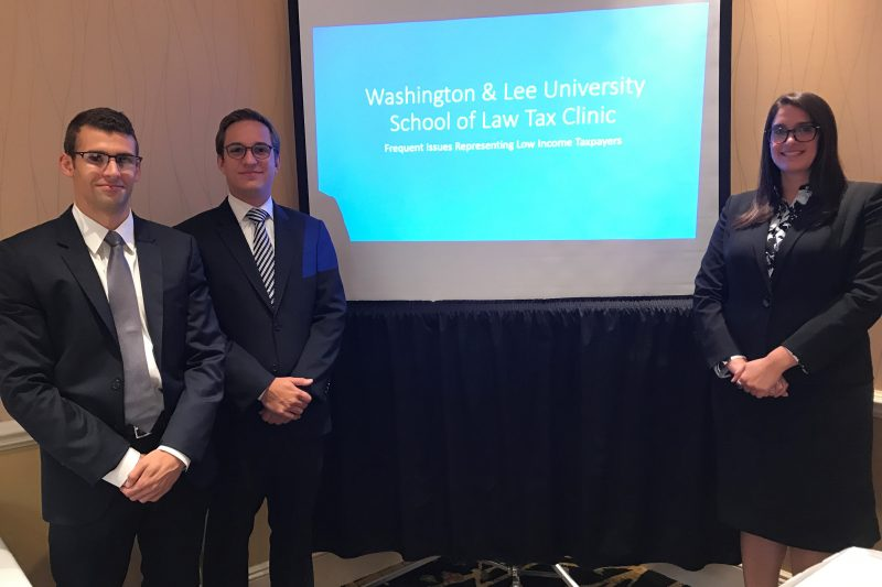 Tax Clinic Students Javier Puga, , Roland Hartung and Gabrielle Ongies
