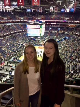 Laura Gottschalk '19 at a Wizard's game.