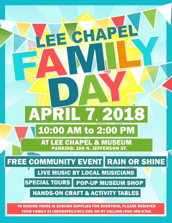 the columns w l s lee chapel presents family day washington and