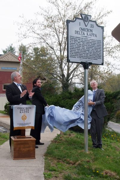 Historical-marker-400x600 Straughan Addresses Alumni Opening Assembly, ODK Holds Spring Initiation