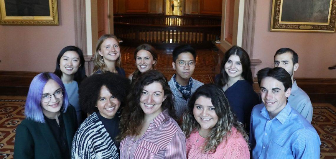 Georgi Pisano-Goetz '20L with her fellow NextGen America Interns