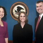 Blair Barker with the U.S Attorney