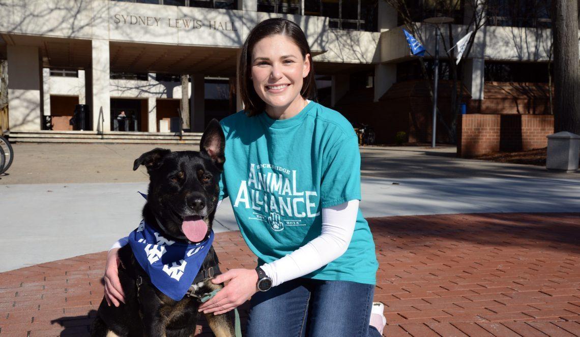 Lauren Morina '20L with her dog Harley