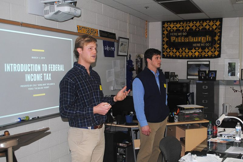 coleandpierce-800x533 Law Students Discuss Income Taxes with Local High School Students