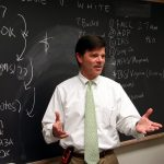 Chip Magee '79L teaching a class in bankruptcy law in 2010.