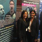 Anahita Mohtasham-Gharagozloo, right, with Simin Fahandej, UN Delegate of Baha'is