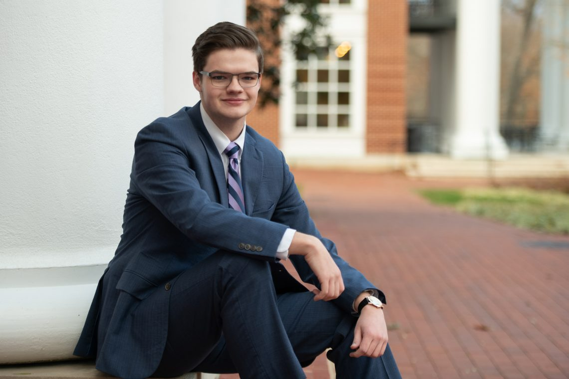 Luke Basham '20, Democratic Party analyst for Mock Con 2020
