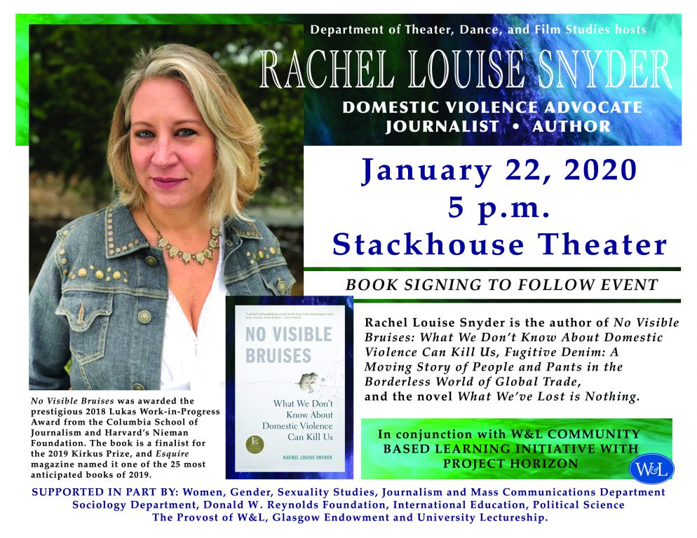 rachel-louise-snyder-1-scaled W&L Hosts Public Lecture with Rachel Louise Snyder