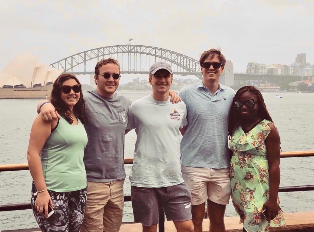 ISSAP students in front of Sydney Harbor
