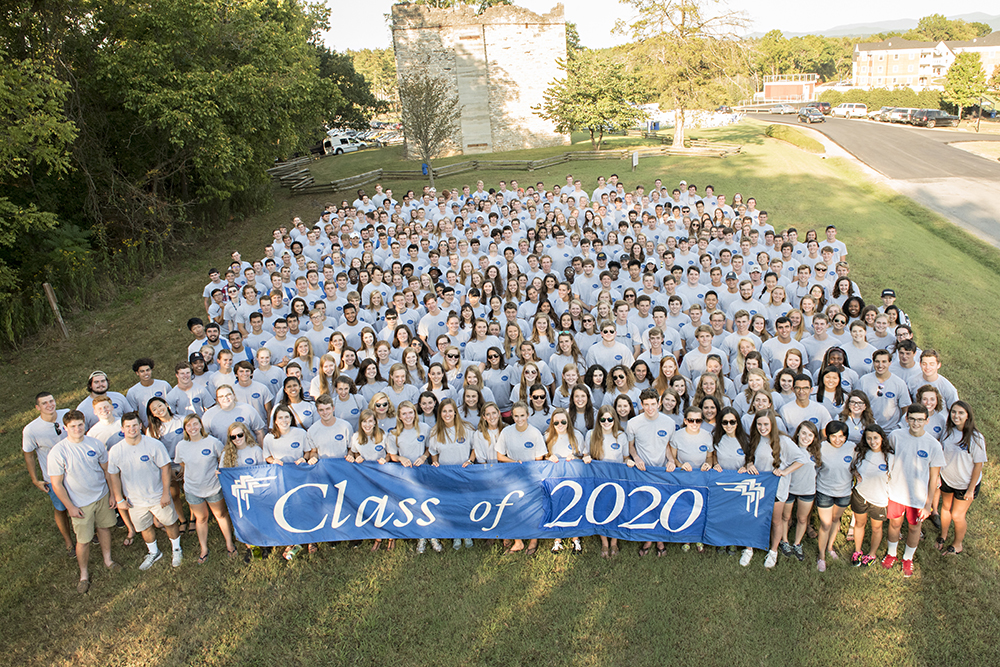 The class of 2020 as first-year students in September 2016