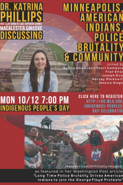 Katrina-Philips-IPD-event-10.12.20-400x600 W&L Celebrates Indigenous People's Day with Public Lecture