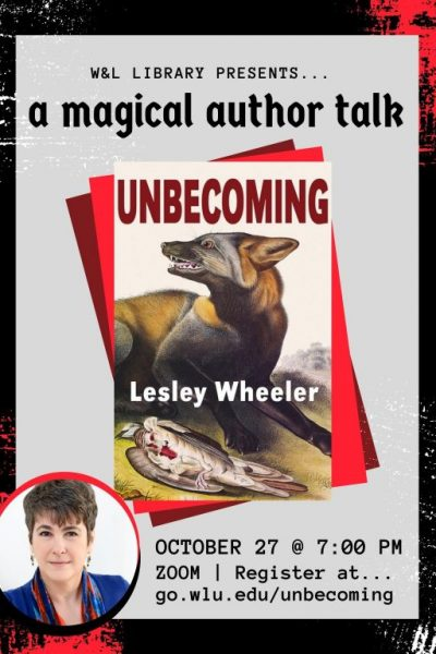Spooky-Author-Talk-2-400x600 W&L's Wheeler to Deliver Author Talk on New Book 'Unbecoming'