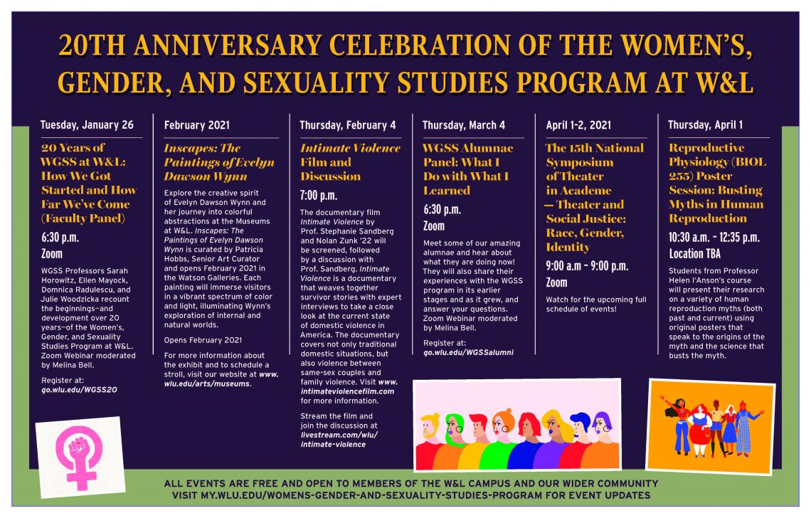 WGSS-20-Anniversary-WL-Program-2021-1140x728 The Women's, Gender, and Sexuality Studies Program at W&L Presents a Faculty Panel