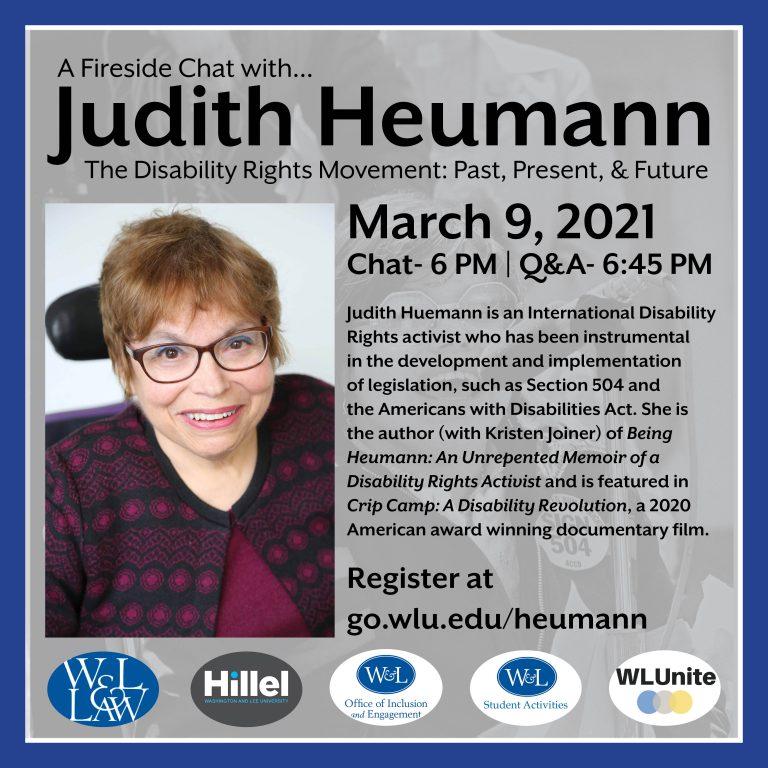 J.Heumann-2-768x768 W&L Hosts Disability Rights Activist Judy Heumann