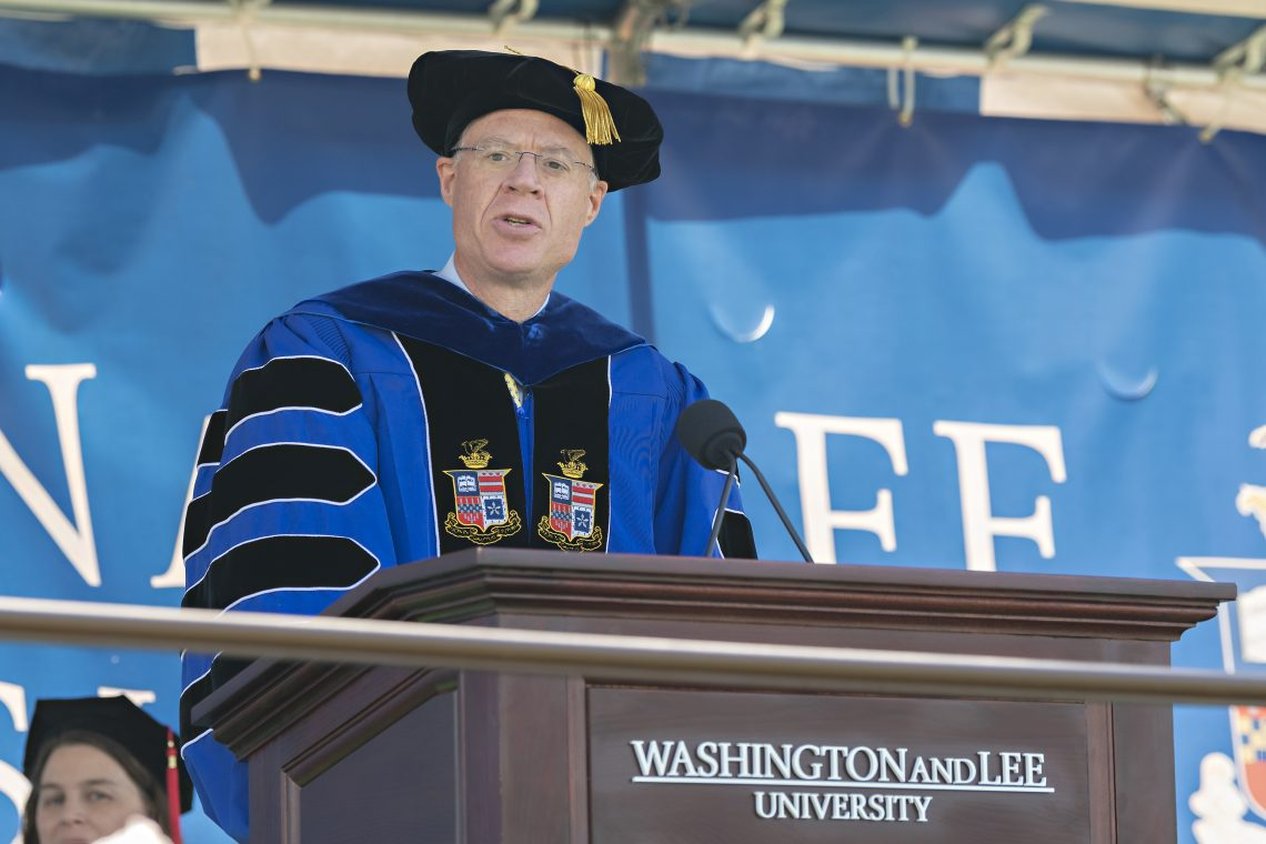 2021-Commencement-President-Dudley-scaled Washington and Lee Graduates 444 Students at 234th Commencement